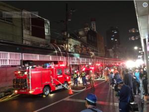 大森-蒲田の火災現場です