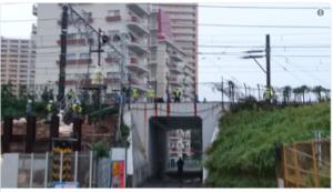 総武線 新小岩~市川駅間で線路陥没