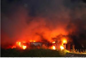 大和郡山市で火事